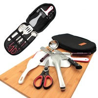 BBQ Grill Tools Set with Storage Bag Stainless Steel Outdoor Barbecue Accessories Grilling Kit HYD88