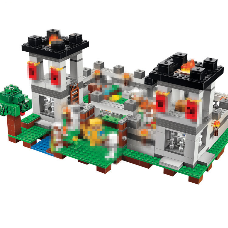BELA The Fortress Building Blocks Sets Bricks My worlds Movie Model Kids Minecrafted Toys For Children Compatible Legoe bela 10393 my world the nether fortress model self locking building block classic architecture toy for children compatible 21122