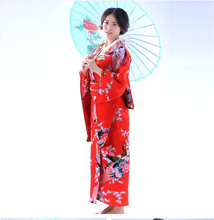 купить Fashion National Trends Women  Kimono Yukata With Obi Novelty Evening Dress Japanese Cosplay Costume Floral дешево