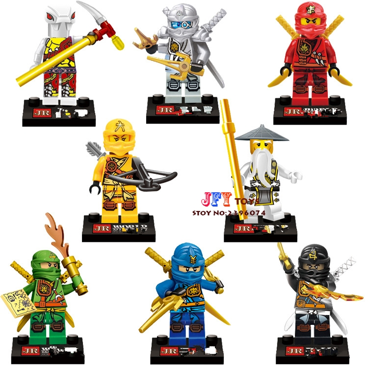 8pcs star wars super heroes marvel JR747 Ninja Skylor Cole Zane Jay building blocks model bricks toys for children juguetes