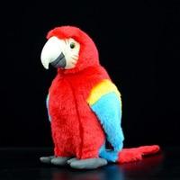 12 Lifelike Scarlet Macaw Plush Toys Cute Parrot Plush Dolls Simulation Bird Stuffed Toys Gifts For Kids