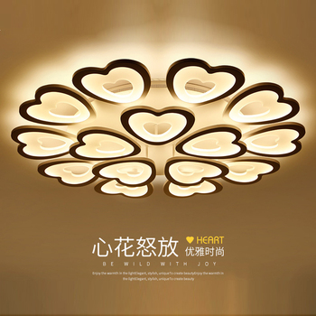 Serce akrylowe nowoczesne lampy sufitowe do salonu sypialnia AC 90 V-260 V lampy sufitowe led lampy sufitowe led świeci dla domu nowoczesne jadalnia pokoje