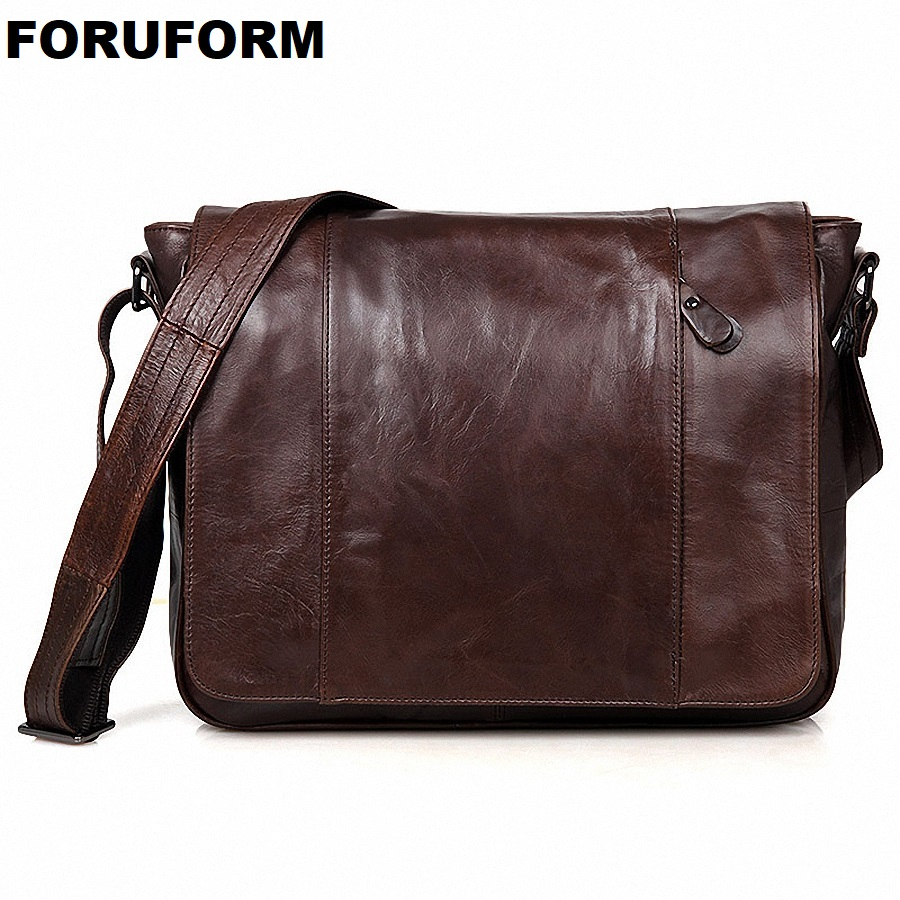 2018 Fashion Mens Shoulder Bags Genuine Leather mens Messenger Bags Big Capacity Briefcases Laptop Business Handbags LI-1445 ...