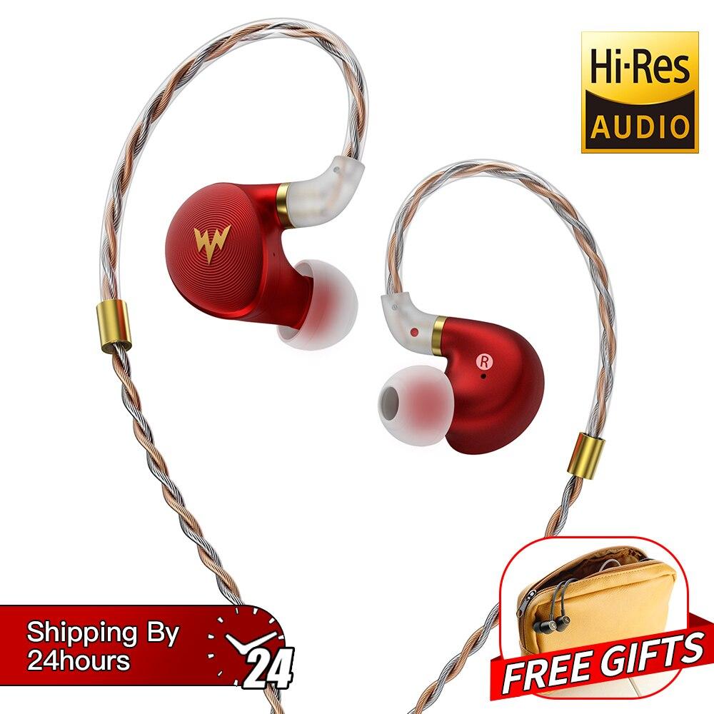 HiFi basse ecouteurs A-HE03 hi-res casques hybride Armature 2Pin connecteur 3.5mm dans l'oreille moniteurs HiFi écouteurs