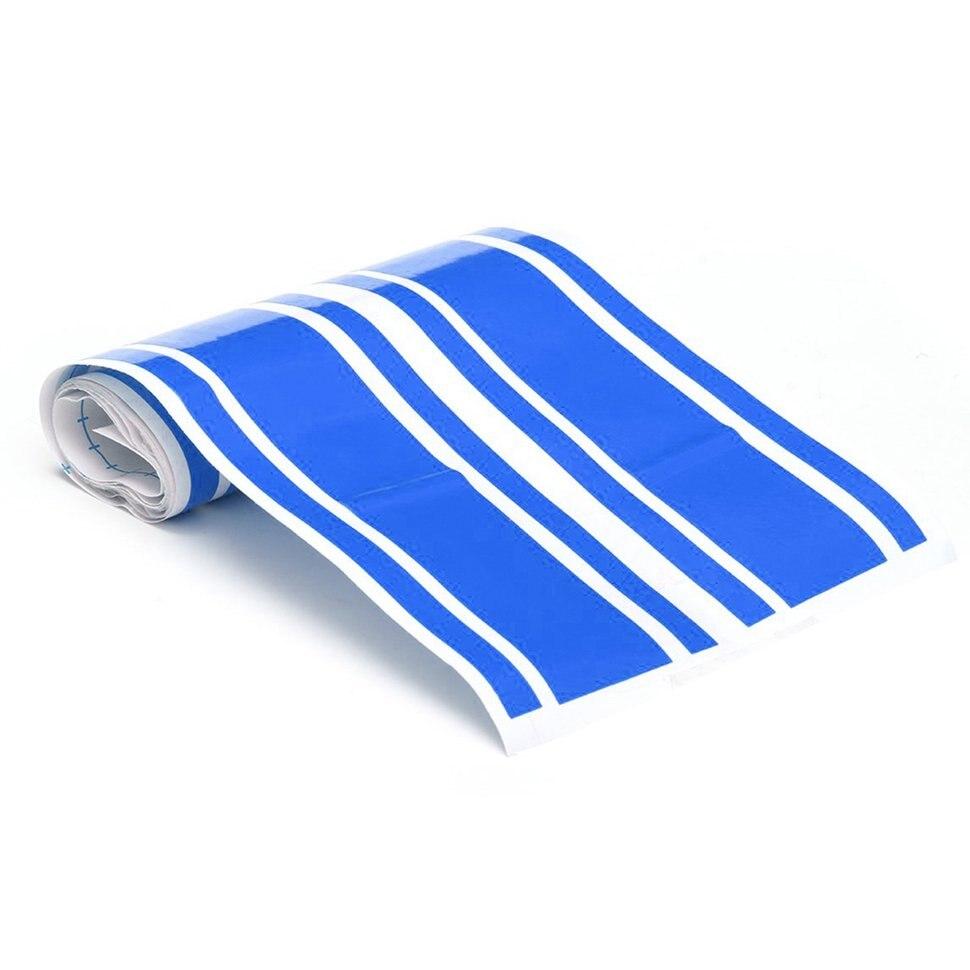 10 pcs Autocollants De Voiture Classique Adhensive Bleu Rayures agréable à L'œil Vinyle Forte Viscosité Autocollant