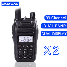 (2 PCS)Black BaoFeng portable radio UV-B6 Dual Band UHF VHF Two Way Radio walkie talkie free shipping
