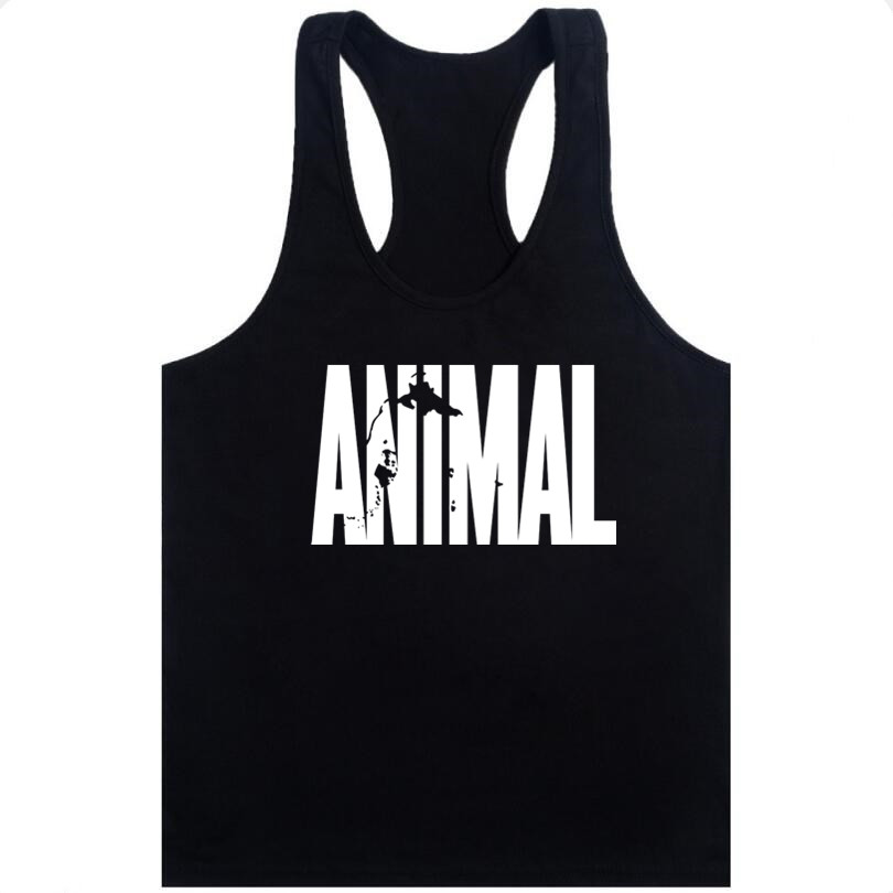 Mens Brand Singlet   Tops   Bodybuilding and Fitness Shirt Regatas Clothes Vest Men Animal brand clothing Stringer   Tank     Top