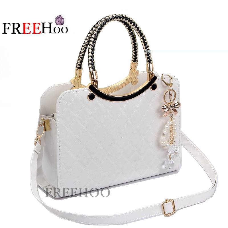 137cec244404 2018 cute New Style Fashion bolsa feminina Brand Designer PU Tote Shoulder  Bag Ladies Messenger chain