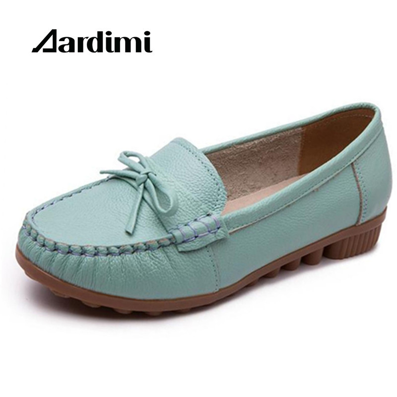 New Designer Genuine Leather Women Shoes Flats Spring Solid Loafers Women Flat Mocasines Casual Shoes Woman Zapatos Mujer new 2016 european brand designer winter warm flats black leather rabbit fur loafers metal decorated hot sell flat shoes women