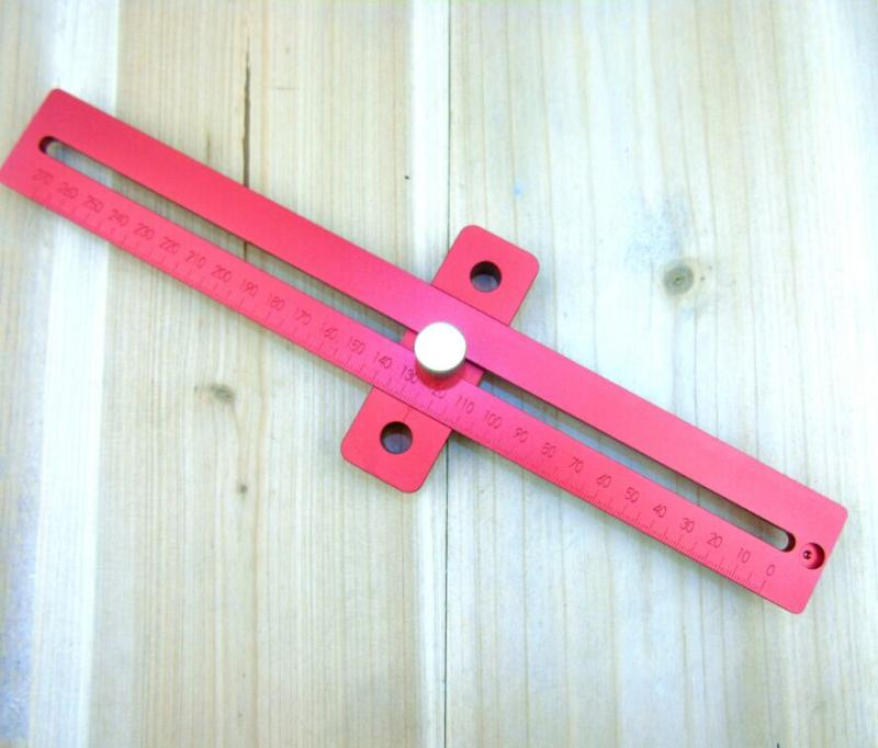 woodworking square,Aluminum Alloy crossed ruler woodworking T type Scriber,Measuring tools(China