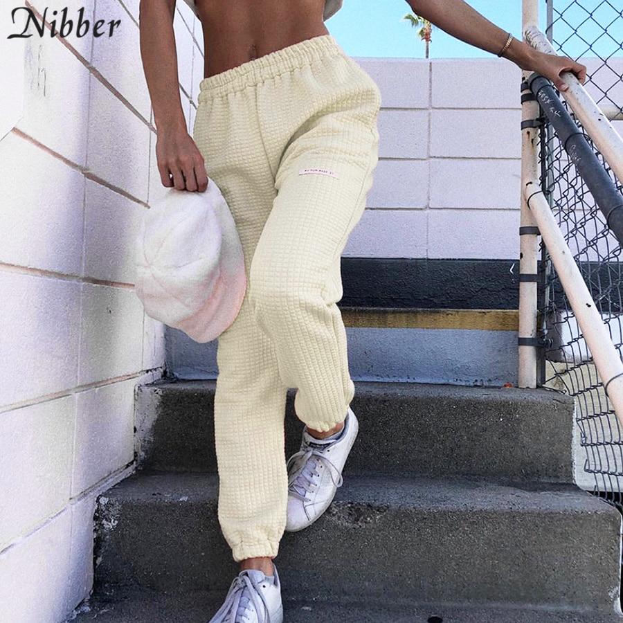 Nibber 2019 autumn fashion white Loose casual Harem   pants   fashion streetwear   wide     leg     pants   Harajuku wild Slim Soft   pants   mujer