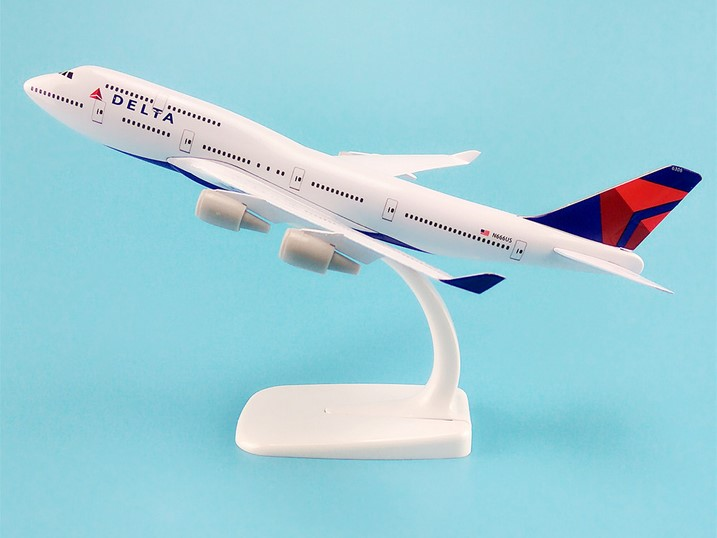 20cm Alloy Metal AIR American DELTA Airways Plane Model Boeing 747 B747 Airlines Airplane Model W Stand Aircraft Gift image