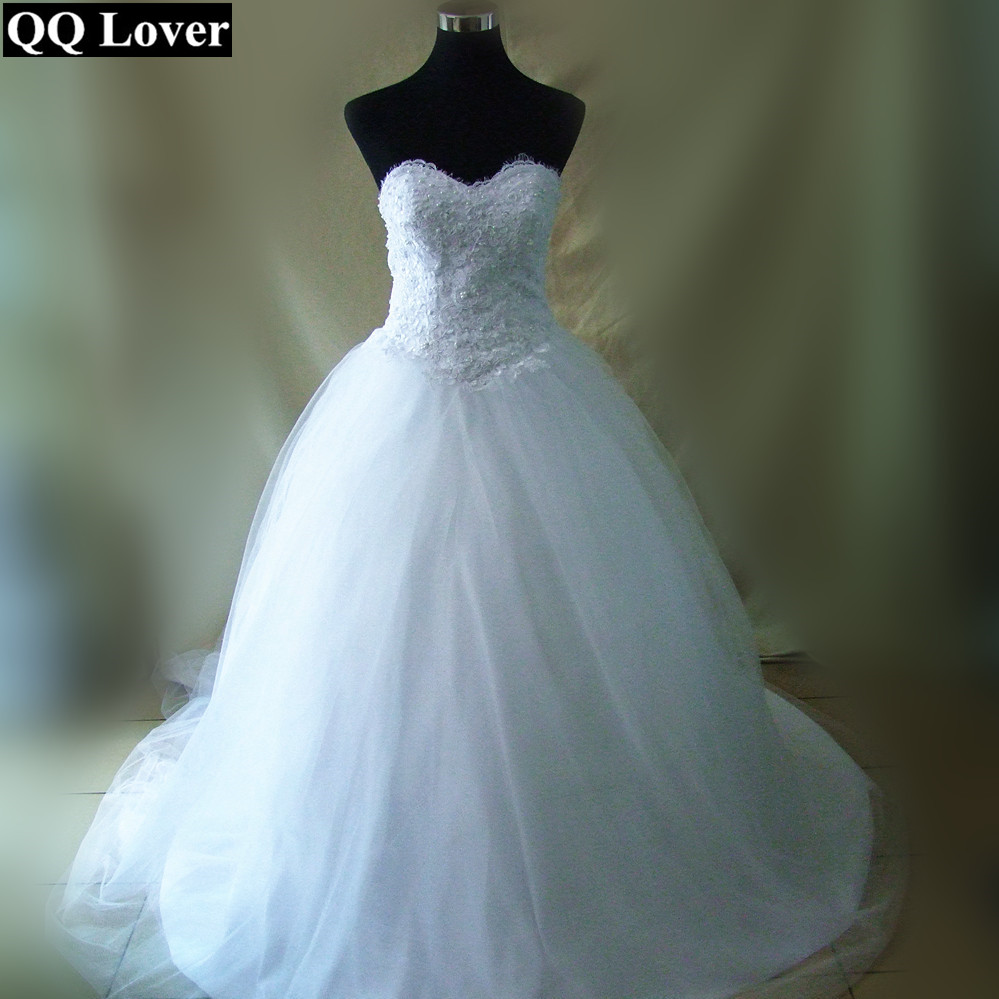 Qq lover vintage strapless princess beaded lace ball gown for Vintage beaded lace wedding dress