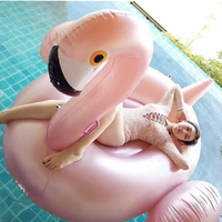 150CM 60Inch Giant Inflatable Toys Flamingo Pool Float Unicorn Ride On Swimming Pool Float Water Holiday Party Toys Piscina