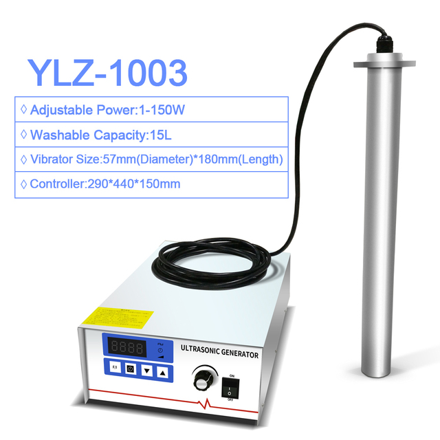 Input Industrial Ultrasonic Cleaner Shock Rod Stick 150W Power Adjust Oil Rust degreasing Lab Equipment Ultrasound washer