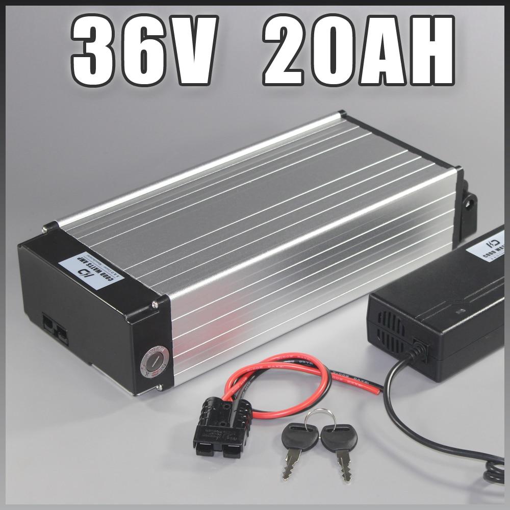 Zadní stojan 36v 20ah elektrický elektrický akumulátor Samsung 36V lithiová baterie pro jízdní kola pro sady Bafang BBS02