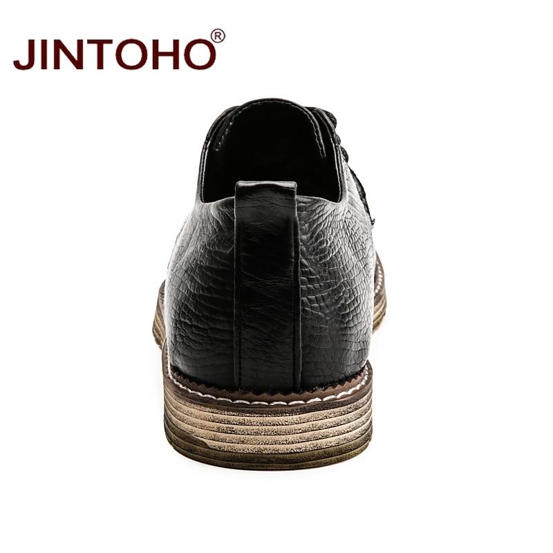 Mocassins Véritable Grande En Taille Luxe Jintoho Mâle Marque Chaussures light Brown Cuir Décontracté brown Mode Black Hommes De wqEU1RRxI