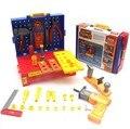 Niños elefantes teatros plástico de herramientas de trabajo del ingeniero herramientas taller taladro eléctrico banco juegos de imaginación Kit de reparación 45 unids/set