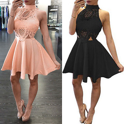 New Sexy Women Dress Summer Sleeveless Casual Party Cocktail Short Mini Dress Clubwear