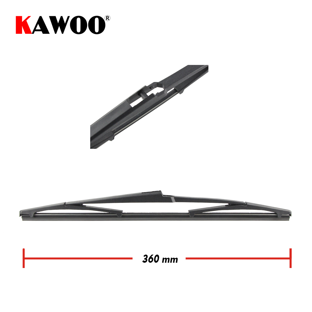 Kawoo car rear wiper blades back window wipers arm for hyundai veracruz hatchback 2006 onwards 360mm auto windscreen blade in windscreen wipers from