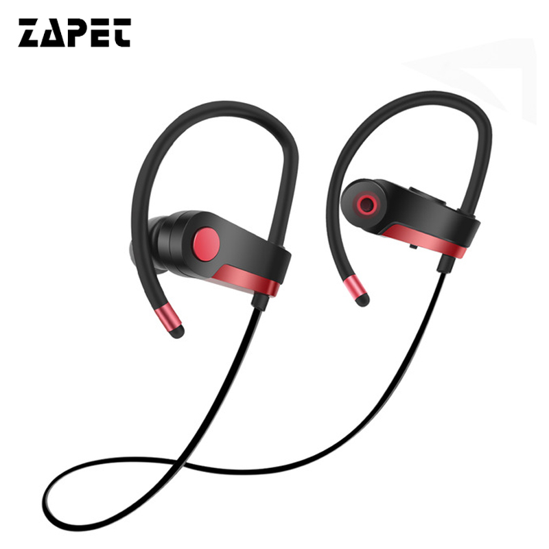 ZAPET Super Bass Headset Bluetooth Wireless Headphone CSR8635 Sweat Waterproof Earphone Running Earbuds with Mic for iphone new dacom carkit mini bluetooth headset wireless earphone mic with usb car charger for iphone airpods android huawei smartphone