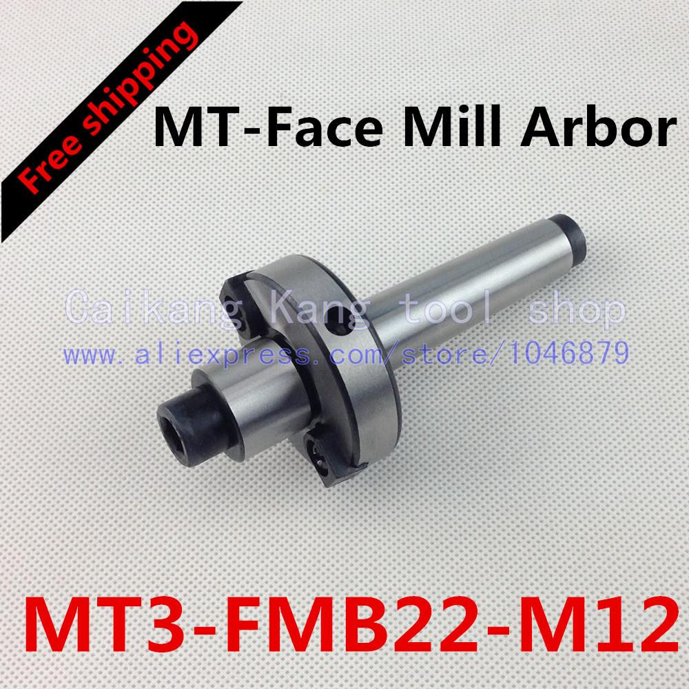 Free shipping New CNC tool holders MT3-FMB22-M12 Morse Face Mill Arbor Shell end mill arbor new face mill arbor cat40 fmb27 60l cnc milling arbor