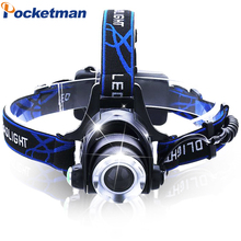 Headlight CREE T6 3800LM LED Headlamp Powered Head Lamp Torch LED Flashlights Biking Fishing Torch for 18650 Battery Charger