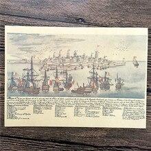 Envío Gratis cartel de Puerto Antiguo pintura cartel retro de Kraft Bar Café pared vintage arte pegatina cuadro para el salón 42*30CM ZIP-A053