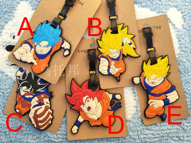 Dragon ball super saiya man Luggage Tag PVC Pendants Portable Travel Label Suitcase ID Address Holder tags anime new