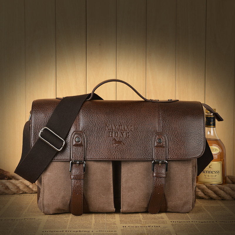 bolsa do homensageiro do vintage Handle/strap Tipo : Soft Handle