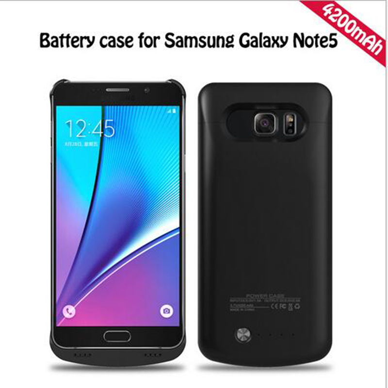 4200 Mah For Samsung Note 5 Battery Case 2018 Backup Battery Case Cover Power Case For Samsung Galaxy Note 5 Battery Case