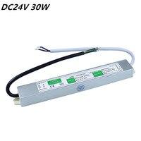 DC 24V 30W LED Power Supply Adapter AC110V 260V IP67 Waterproof Electronic LED Driver Transformer For