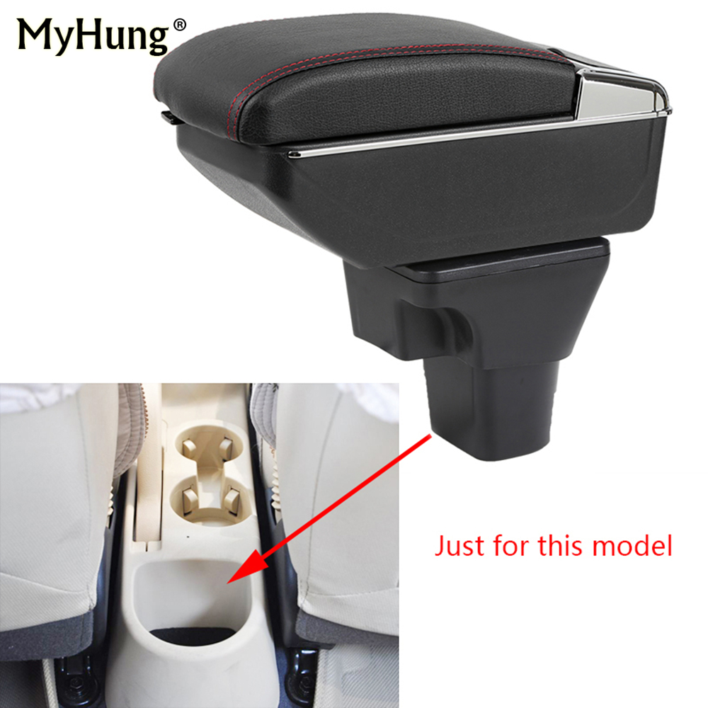For Hyundai Accent Armrest box Central Console Arm Store content box cup holder ashtray With Rise and Down Function Car Styling universal leather car armrest central store content storage box with cup holder center console armrests free shipping