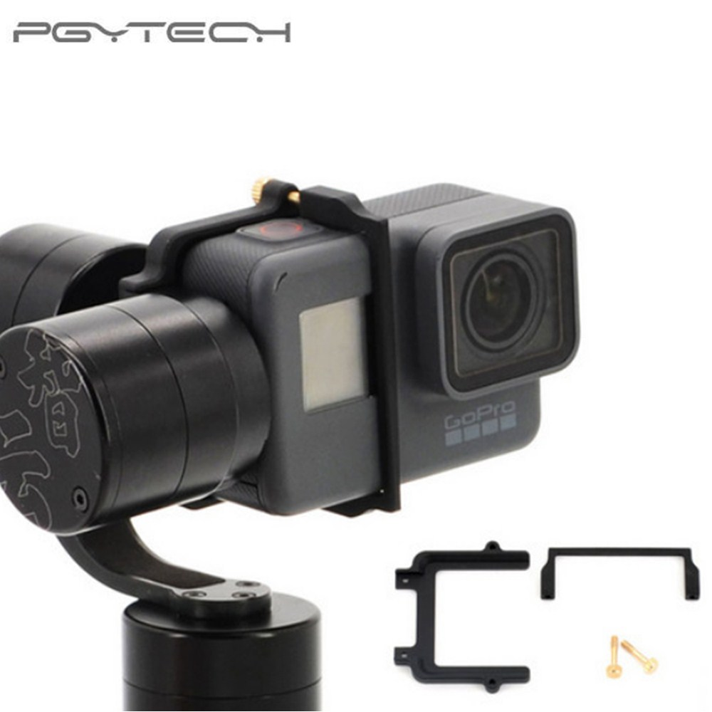 все цены на For GoPro Hero 5 Adapter Mount Bracket Plate Clip Holder for Zhiyun Z1 Evolution Gimbal Sports Action Camera Drone Accessories онлайн