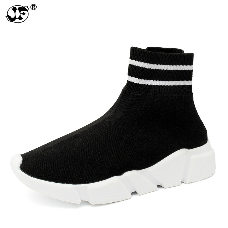 Casual Shoes Women Zapatos Mujer Ladies Trainers Flats Sneakers Women Tenis Feminino High Top Socks Shoes женские кеды shoes women huarache zapatos mujer ws6 4 shoes women5354