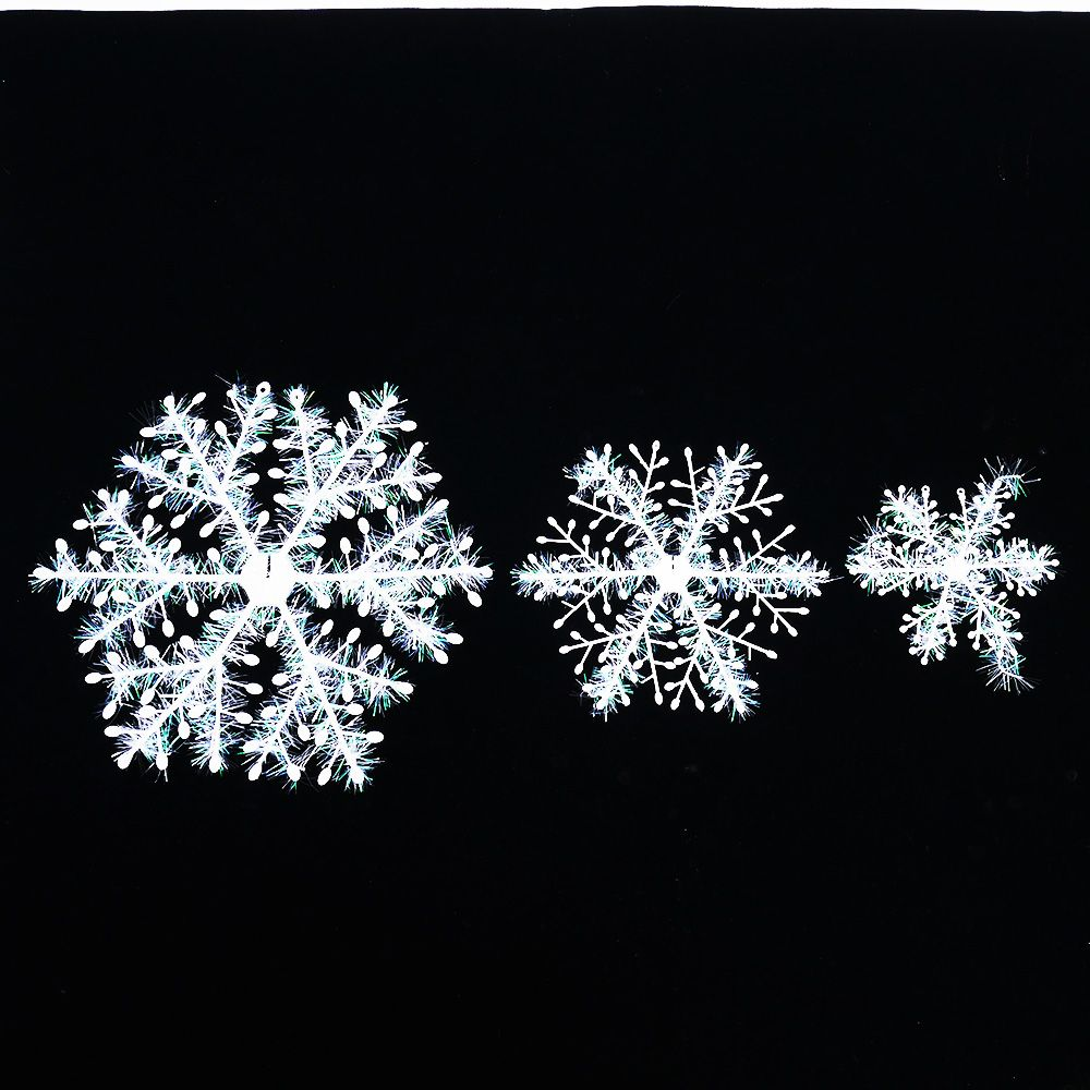 Snowflakes 3D Christmas Tree Hanging Ornaments Party