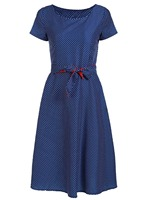 Femmes Robe D'été 2017 Plus La Taille Vintage Dot 50 s 60 s Style Robe Femmes O-cou À Manches Courtes Partie Clubwear formelle Robe