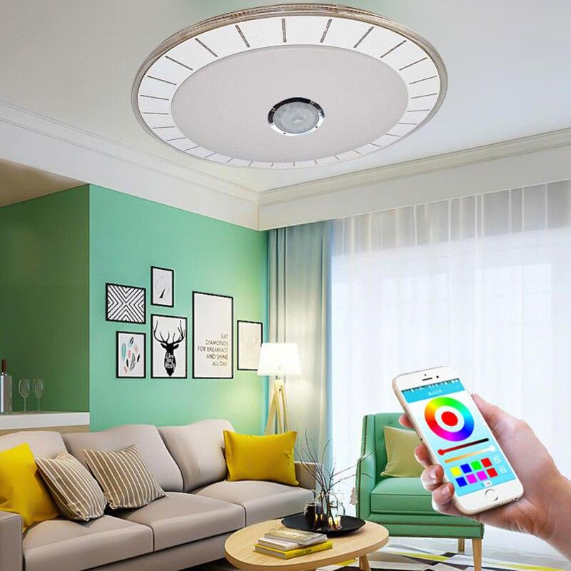 Inteligente bluetooth luz de teto led moderno