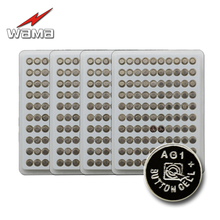 400pcs/4pack Wama 100% New AG1 1.55V Lithium Button Cell Batteries Watch Coin Battery Car Remote Control LR621 SR621 164 LR60 10pcs pack wama ag1 button cell coin battery lr621 364a sr621w lr60 1 5v alkaline watch toys remote mercury free batteries