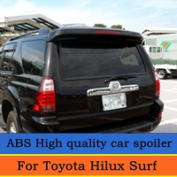 Hilux Surf 1999 2012 ABS material car spoiler For Toyota Hilux Surf black or white or silver or primer car rear wing spoiler