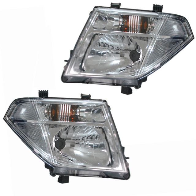 2 Pieces Head Light Lamp Headlights For Nissan Pathfinder Navara