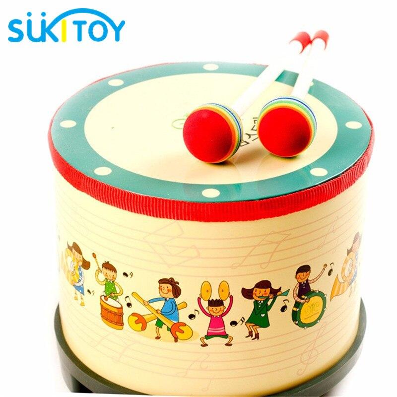 Del capretto Morbido Montessori Di Legno Tamburo Stile Della Corea Musical Per Bambini Tipo di Apprendimento e L'esercizio di Alta Quanlity Regalo Per Il Bambino e bambini