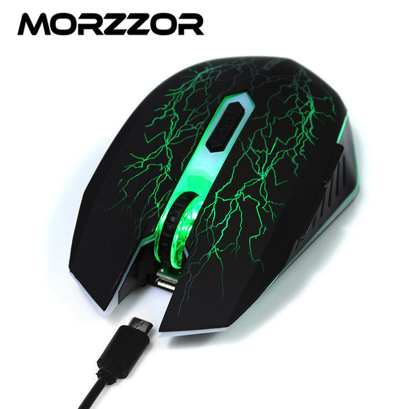 Morzzor wireless mouse computer mice 6d 1600dpi for Cs go mouse