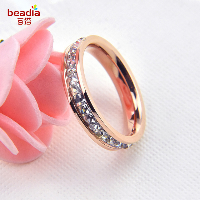 2017 New Fashion 1pcbag Rose Gold Silver Classic Wedding Finger