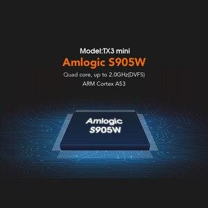 Image 4 - DQiDianZ Android 8.1 TX3mini Smart TV BOX Amlogic Quad Core Multimediale 2.4G Wifi KD schermo di Visualizzazione Dello Schermo TX3 MINI Set top Smart box