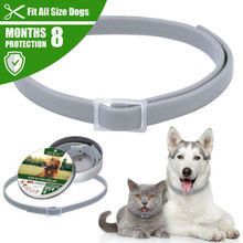 New Waterproof Flea and Tick Collar 8 Month Protection Adjustable for Small Medium Large Dogs
