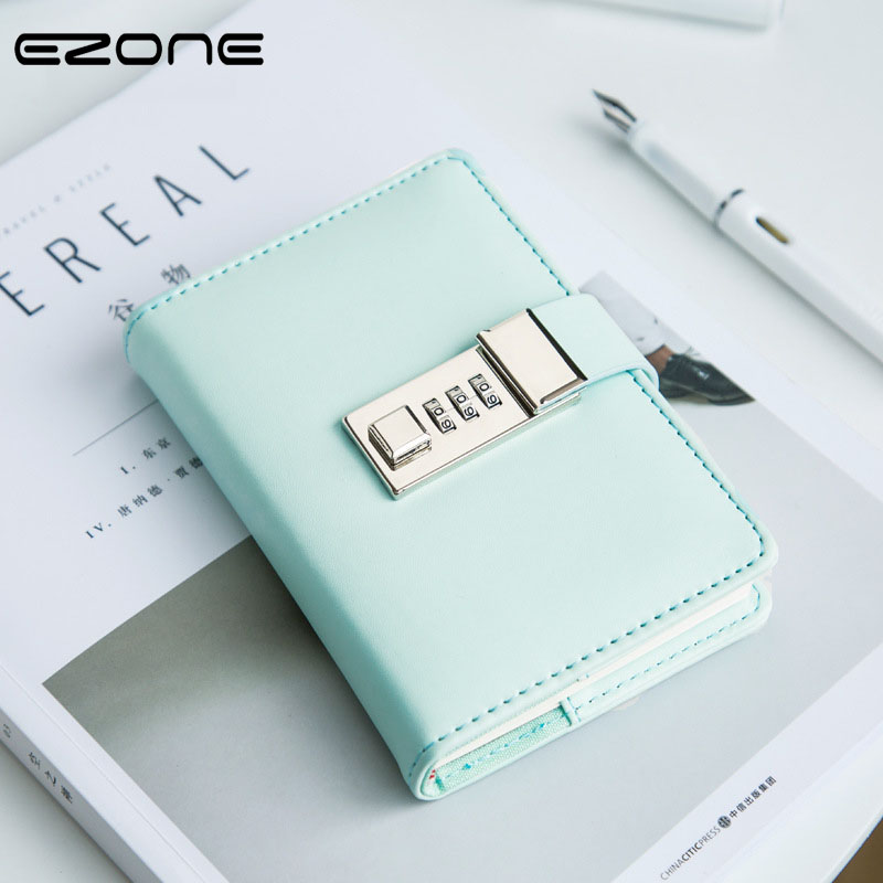 EZONE Simple Code Notebook Candy Color With PU Cover Note Book Personal Daily Diary Traveler Jounery Memo School Office Supplies tunacoco japanese kokuyo wcn s6090 traveler notebook simple scheduel book bullet journal school office supplies bz1710063