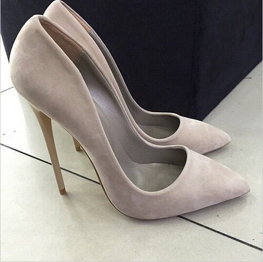 Women Pumps Party Weeding Women Shoes New Fashion Cheap Price Hot Selling Sexy High Heel Pointed Toe Suede Office Lady 2017 new fashion brand spring shoes large size crystal pointed toe kid suede thick heel women pumps party sweet office lady shoe