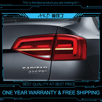 AKD tuning cars Tail lights For VW Jetta MK7 Taillights LED DRL Running lights Fog lights angel eyes Rear parking lights