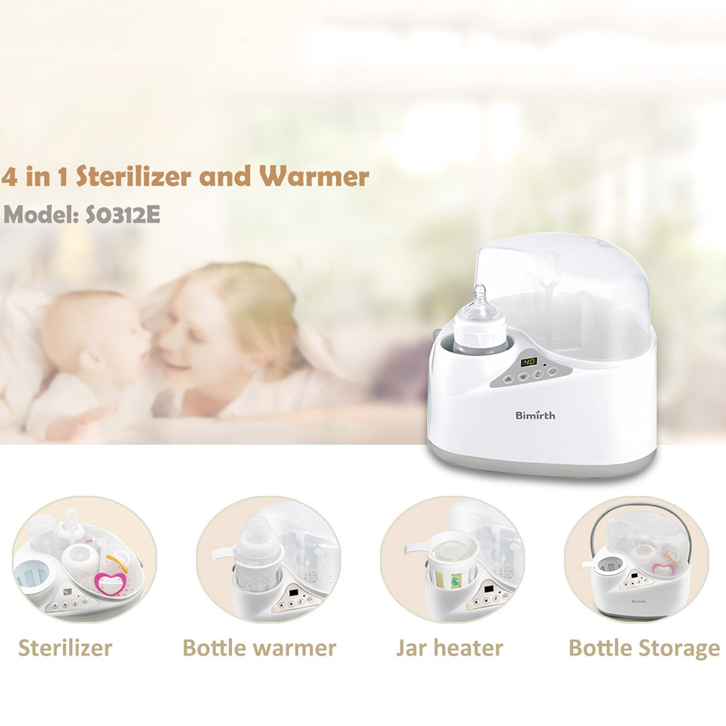 4 in 1 Multi-functional Breast Milk Heater Baby Bottle Warmer Breast Sterilizer Bottle Storage Screen Intelligent Heating multifunctional portable babies intelligent milk bottle feeding temperature indication low power warning timed reminder